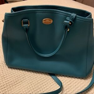 Coach Bags - Large Coach purse Turquoise Stunning